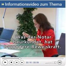 Informationsvideo zum Thema Beglaubigung & Beurkundung